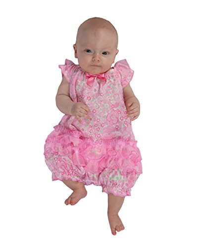 Girlie Baby Doll Shirt - Laura Dare Baby Girls Blossoms Frilly Romper, 6m