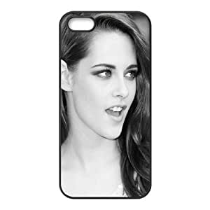 Celebrities Kristen Stewart Black And White iPhone 5 5s Cell Phone Case Black Delicate gift AVS_560034
