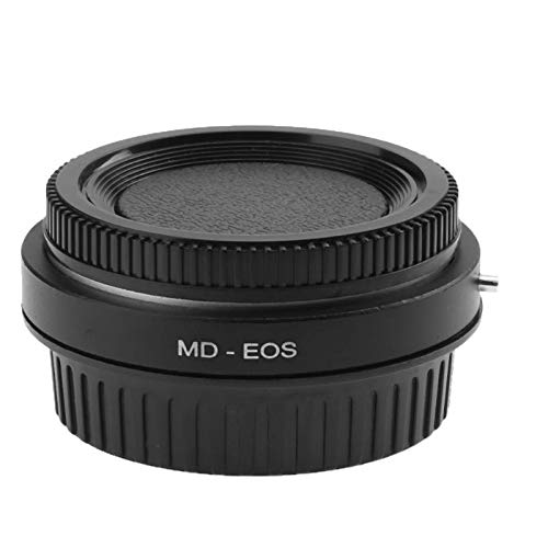 SUPERELE MD-EOS High Precision Camera Lens Adapter Ring with Lens Cap for Minolta MD Lens to EOS EF for Canon Adapter Ring