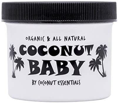 Coconut Baby Oil Organic Moisturizer - Vitamin E Oil for Hair and Skin Care - Cradle Cap Treatment, Eczema and Psoriasis Relief - Massage - Sensitive Skin, Diaper Rash Guard, and Stretch Marks 4 fl oz