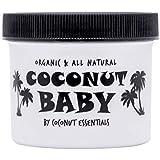 Coconut Essentials Baby Oil Organic Moisturizer - Hair and Skin Care - Cradle Cap Treatment, Eczema and Psoriasis Relief - Sensitive Skin, Diaper Rash Guard, and Stretch Marks - Vitamin E - 4 Fl Oz