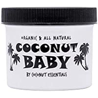 Coconut Essentials Baby Oil Organic Moisturizer - Hair and Skin Care - Cradle Cap Treatment, Eczema and Psoriasis Relief…