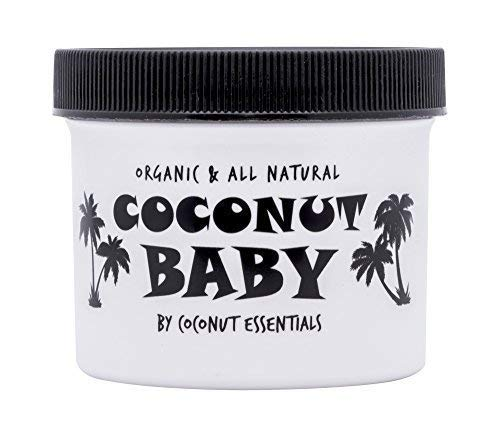 (COCONUT BABY OIL Organic Moisturizer - Vitamin E for Hair and Skin Care - Cradle Cap Treatment, Eczema and Psoriasis Relief - Massage - Sensitive Skin, Diaper Rash Guard, and Stretch Marks (4 oz))