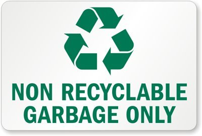 picture relating to Printable Recycle Symbol called : Non Recyclable Rubbish Basically (With Recycle
