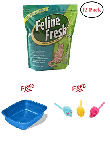 Feline Fresh Pelleted Pine Cat Litter 7 lbs. (12 Packs) with Free!