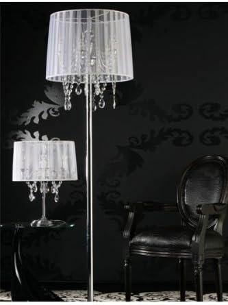 Lampe Sur Pied De Style Baroque Avec Strass Deco 5 Lampes