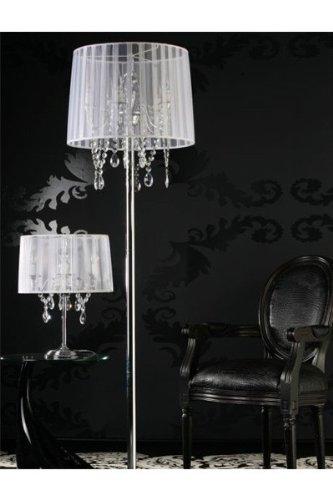 Casa Padrino Barock Stehleuchte Mit Kristall Deco, 5 Flammig, Weiß, Leuchte