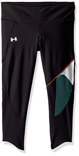 Under Armour Women's Armour Fly Fast GX Crop, Black (001)/Reflective, Small