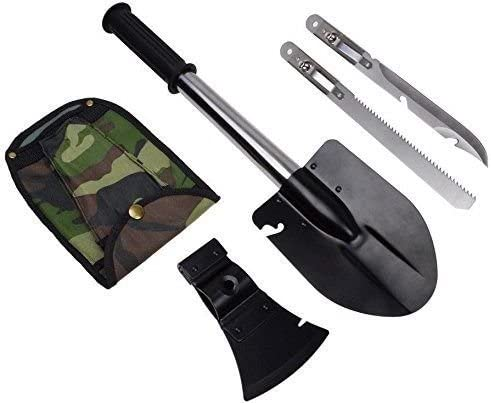 4 In 1 Emergency Camping Hiking Knife Shovel Axe Saw Gear Kit Tool Ultimate Function Military Interchangeable Handle Customers To Sharpen Brand New