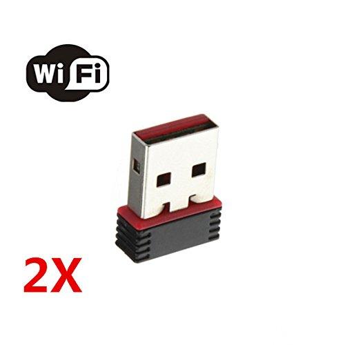 2XMini 150Mbps USB WiFi Wireless Adapter Network LAN Card 80
