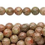Bead autumn jasper (natural) 8mm round C grade Mohs hardness 6-1/2 to 7