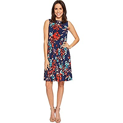 Adrianna Papell Women's Botanical Soiree Pleated Dress at Amazon Women's Clothing store