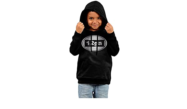 Little Boys Girls 12 Gauge Bullet Platinum Style Hoodie Black