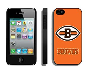 NFL&Cleveland Browns 13 iPhone 4 4S Case Gift Holiday Christmas Gifts cell phone cases clear phone cases protectivefashion cell phone cases HLNKY605583282