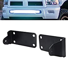 "40"" Curved LED Light Bar Bumper Mounting Brackets Fits 2010-2015 Dodge Ram 2500 3500"