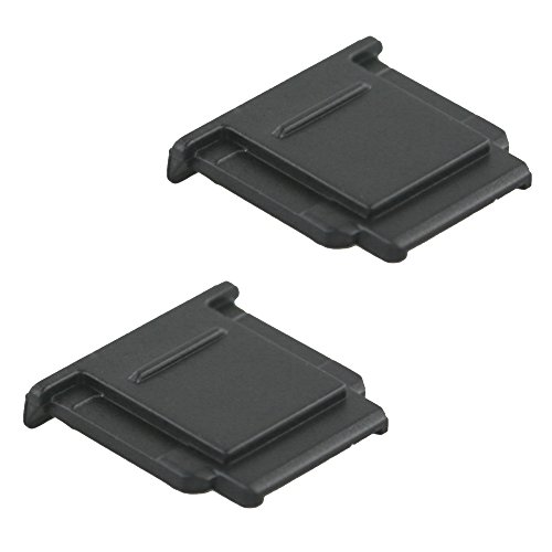 (2-Pack) JJC FA-SHC1M Black Hot Shoe Cover Cap for Sony A6000 A6300 A6500 A7 A7II A7III A7R A7RIII A7RII A7S A7SII A9 A99 A99II A77 A77II A58 A68 RX1 RX1R (Case Shoe Mount Flash)