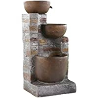 home garden decor water fountain reilly rustic style outdoor fountain assembly required os1469do 35 in high x 16 in wide x 14 in deep - Fountain For Home Decoration