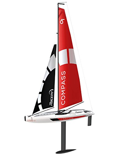 (POCO DIVO Sailing Boat 2.4Ghz Compass RG65 Class Competition Sailboat RC Wind Power Sail Yacht)