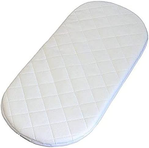 71 X 26 X 3.5 cm Quilted Breatheable Hypoallergenic Moses Pram Basket Mattress Oval Shaped Waterproof Mattress Size