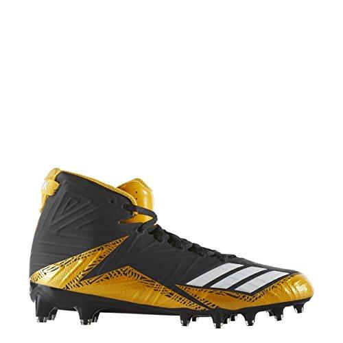 Adidas Freak X Carbon Mid Cleat Mens Nucleo Di Calcio Solido Nero-bianco-oro