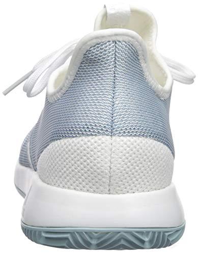 adidas Women's Adizero Defiant Bounce, ash Grey/White, 5 M US by adidas (Image #2)