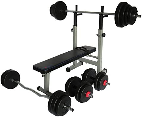 Uni Best Multi Función Banco de pesas Fuerza Station pro501 con largo de, Curl de y mancuernas de 145 kg
