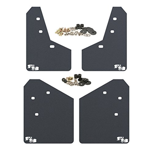 Rokblokz Mud Flaps For 2013 2017 Subaru Xv Crosstrek Multiple Colors Available Mud Guards Are Custom Cut And Fit Includes All Mounting Hardware Black With White Logo