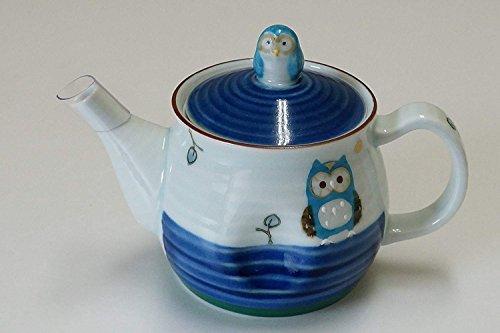 (Imari Japanese Arita-yaki Ceramic Kyusu Teapot with Strainer/Blue Fortune)