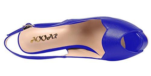 Aooar Scarpe Da Donna Con Tacco Alto Da Donna Con Plateau Blu Nascosto
