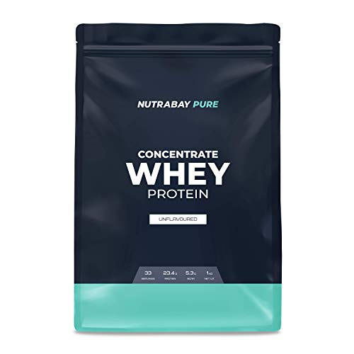 Nutrabay Whey Protein Concentrate (Unflavoured) – 1 kg   Raw Whey from USA   33 servings