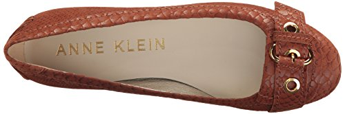Mady Reptile Brown Flat Loafer Brown Anne Women's Medium Klein EtqFUF