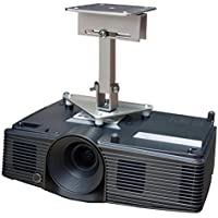 PCMD, LLC. Projector Ceiling Mount Compatible with Optoma EH330 EH331 GT760A HD142X HD29Darbee W340 with Lateral Shift Coupling (8-Inch Extension)