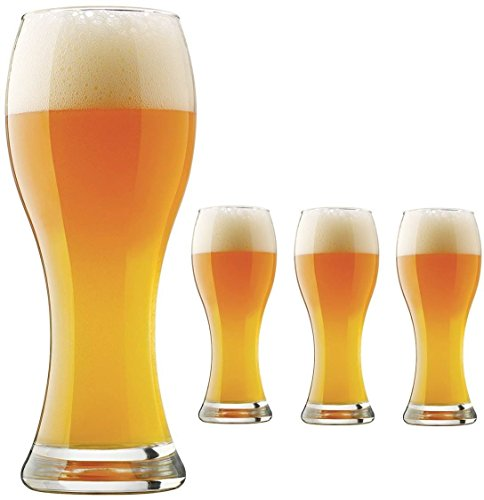 Pier 1 Imports Libbey Craft Brews 23 oz Pilsner Wheat Beer Glasses, Set of 4, Made in USA ()