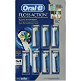 Oral B Triumph FlossAction Power Toothbrush Refills (6 ct), plus 1 Interspace Power Tip Refill