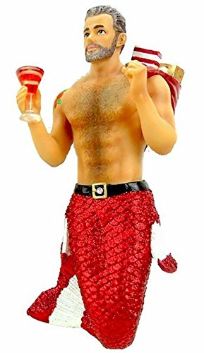 December Diamonds Santa Daddy II Merman with Presents Christmas Ornament 5555008