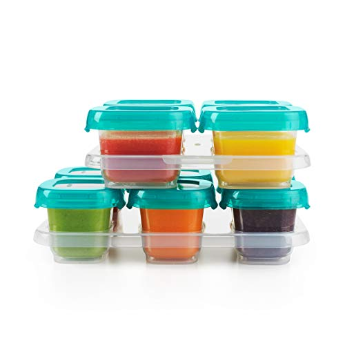 OXO Tot 12-Piece Baby Blocks Set, Teal (Baby Food Storage 4 Oz)