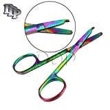 DDP MULTI TITANIUM COLOR RAINBOW STITCH SCISSORS 3.5'' STAINLESS STEEL