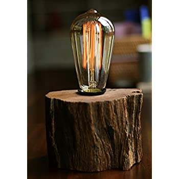 Industrial lamp vintage edison bulb with drift wood base e27110v industrial lamp vintage edison bulb with drift wood base e27110v40w bulb aloadofball Gallery