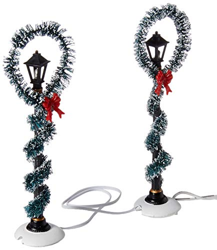 Department 56 Accessories Collections Christmas Wreath Street Village Lights, Multicolor