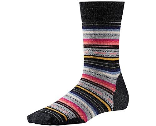 Smartwool Women's Margarita Socks (Charcoal Stripe) Large