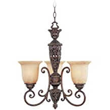 "Designers Fountain 97583-BU Amherst 3 Light Chandelier, 19.25"" x 22"" x 22"""