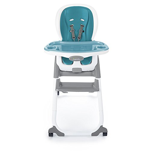 Ingenuity SmartClean Elite 3-in-1 High Chair – Peacock Blue - Chair, Booster