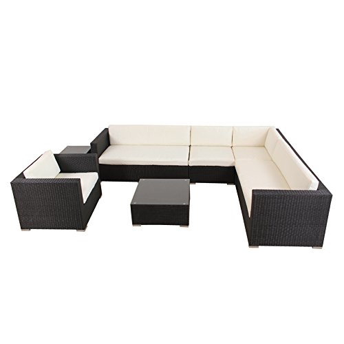 Amazon.de: POLY RATTAN AZUR Lounge Gartenset Sofa Garnitur ...
