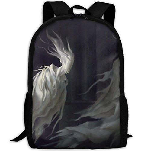 Markui Adult Travel Hiking Laptop Backpack Ghost Design School Multipurpose Durable Daypacks Zipper Bags -