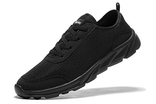 Newluhu Men's Running Shoes Fashion Sneakers Breathable Mesh Soft Sole Casual Athletic Lightweight
