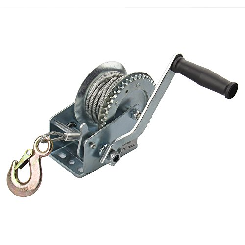 Big-Autoparts 1000lb Heavy Duty Steel Cable Hand Winch Crank Gear Winch ATV Boat Trailer NEW (Boat Puller Hand)