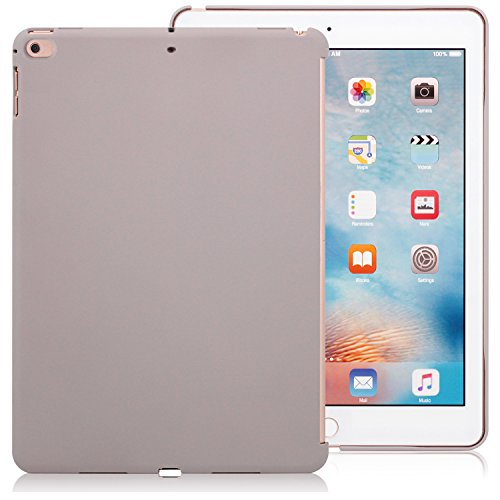 KHOMO iPad 9.7 Inch 2017 and 2018 Inch Stone Color Case - Companion Cover - Perfect Match for Apple Smart Keyboard and Cover.