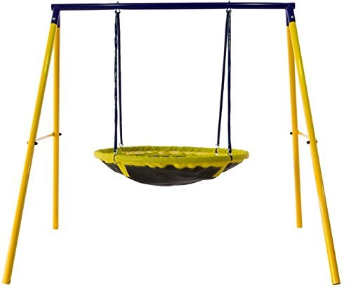 Jump Power UFO Swing Set for 1 or 2 Children, Kids and Toddlers For Fun in Your Backyard