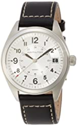 Hamilton Men's H68551753 Khaki Field Analog Display Swiss Quartz Black Watch