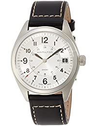 Men's H68551753 Khaki Field Analog Display Swiss Quartz Black Watch